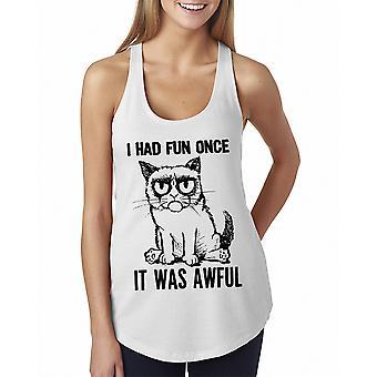 Grumpy Cat Fun Once Sketch Women's White Funny T-shirt
