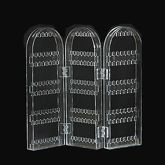 Plastic Clear Earrings Studs Display Rack & Folding Screen Stand/ Holder /