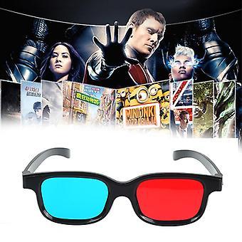 3d Gläser rot blau Rahmen für Dimensional, Anaglyphen-Film, Dvd-Spiel