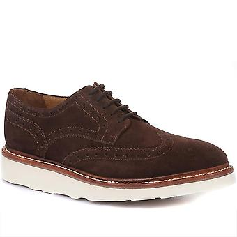 Jones Bootmaker Mens Bedford Casual Leather Brogues with Vibram Soles