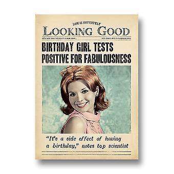 Pigment Fleet Street - Tests Positive Fabulousness Birthday Card Dv1064a