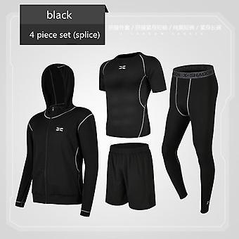 مجموعات الجري، بدلة ملابس رياضية رياضية رياضية للرجال، تي شيرت للياقة البدنية، شورت سبورتس
