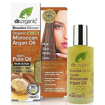 Dr. Organic Reines Öl aus Marokkanischem Argan Gold Liquid