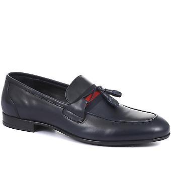 Jones Bootmaker Mens Pascal Läder Tofs Loafers