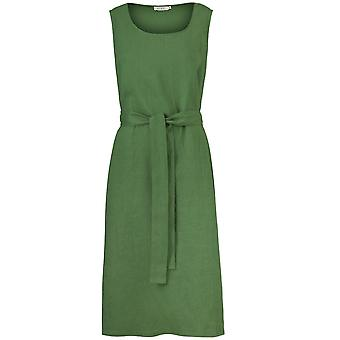 Masai Clothing Ofelia Elm Green Linen Dress