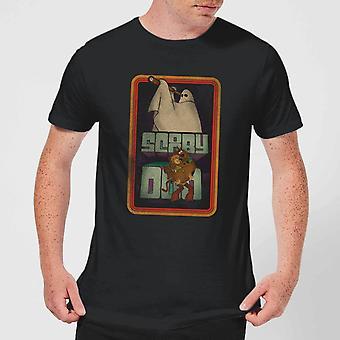 Scooby Doo Retro Ghostie Merchandise Mens Short Sleeve T-Shirt Tee Top - Black