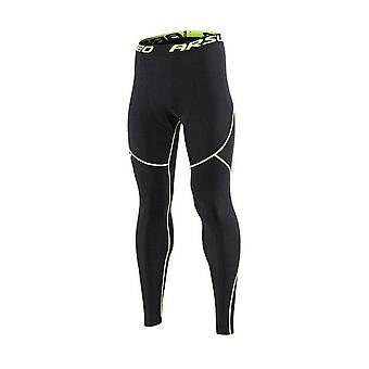 Men's Winter Sports Running Tights, Gimnasio Fitness Compression Pants