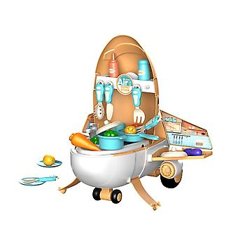 Pretend Play Two-in-one Plane Model Kitchen Toy