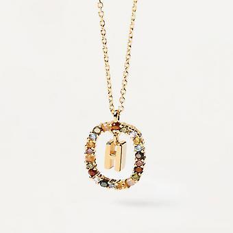Halsband Kvinna P D Paola CO01-267-U - Plaqu guld Dor