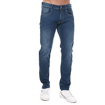 Replay men's indigo anbass slim fit jeans