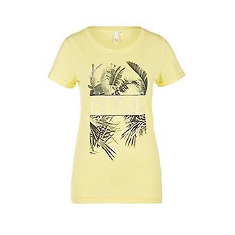 Q/S designed by - s.Oliver 510.12.005.12.130.2005637 T-Shirt, Yellow (Lemon Sorbet Place 11d0), L Woman