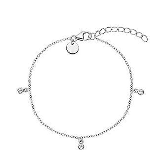 NOELANI - Women's bracelet in silver 925 with zircons, adjustable chain in length
