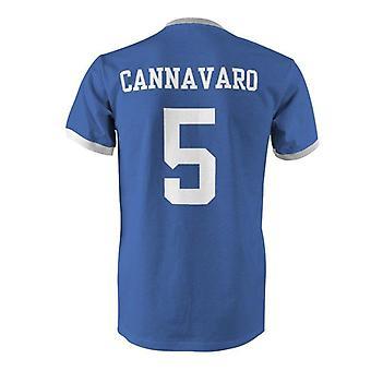Fabio cannavaro 5 italia country ringer t-paita
