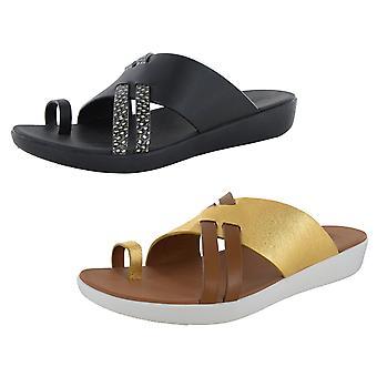 Fitflop Zapatos de sandalia slide de cuero loopy de cuero para mujer