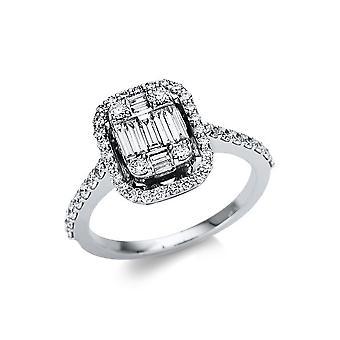 לונה יצירה Promessa טבעת אבן מרובים לקצץ 1U114W851-3 - רוחב טבעת: 51
