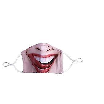 فم مضاد للغبار يغطي القطن القابل لإعادة الاستخدام والغسل الذي يغطي الفم الكبير المضحك x747