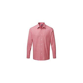 Premier Bomuld Slub Chambray langærmet skjorte PR245