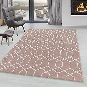 Sala de estar Carpet POWER Short Pile Cable Design Trenza Patrón Líneas Suaves