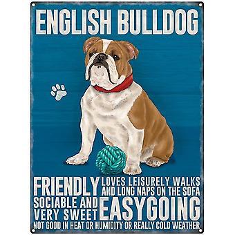 English Bulldog Wall Plaque by The Original Metal Sign Company