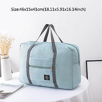 1pcs Eco Friendly Storage Bags Travel Necessary Clothes Cosmetic Organizer Weekend Multi (Blue)
