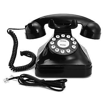 Vintage Retro antik telefon trådbunden fast telefon hem skrivbord dekoration svart