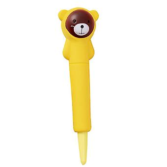 Bear Soft Stress Relief Pen Cute Fidget Toy Anxiety Reliever For Students