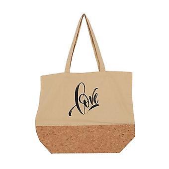Multi-use Bag Love Beige Textile (15 x 36 x 45 cm)