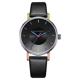 Klasse14 Volare Rainbow 36mm Black Leather Strap VO15TI001W Watch
