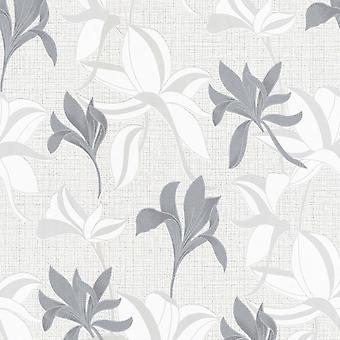 Erismann Luna 2 Blommig grå tapet 10241-10