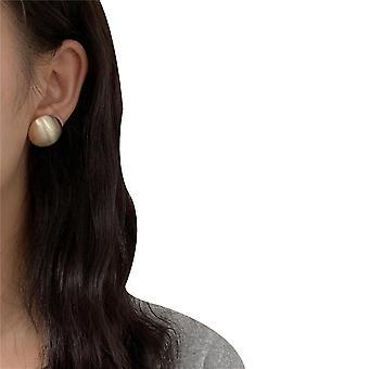 עגילי מתכת אירופאים ואמריקאיים פשוט גיאומטרי עגול עגילי אוזניים(זהב)