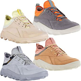 ECCO Womens MX Low Lace Up Leather Panel Trainers Sneakers Shoes