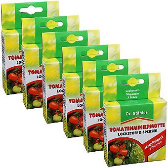 Sparset: 6 x DR. STÄHLER tomat gruvearbeidermot tiltrekkende, 3 dispensere