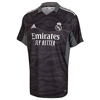 レアル・マドリード 2021-2022 ホームゴールキーパーシャツ (ブラック)
