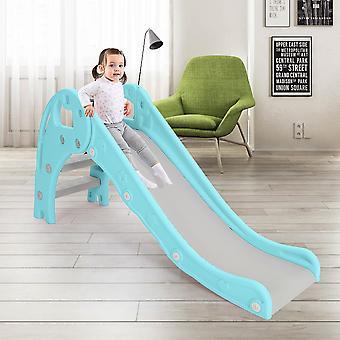 Blaue Plastikrutsche Kleinkinder Kinderkletterer Spielplatzgeräte Outdoor Indoor