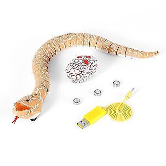 RC Diaľkové ovládanie Hadie Vianoce Desivé hračky pre dieťa Funny Novinka Darček| RC Robot(Oranžová)