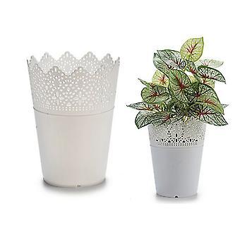 Plant pot White Plastic (12 x 15 x 12 cm)