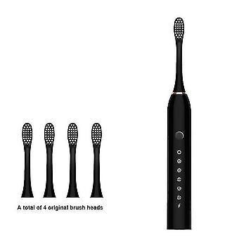 מברשות שיניים מברשת שיניים חשמלית קולית אוטומטי USB נטען IPX7 עמיד למים הלבנה שיניים