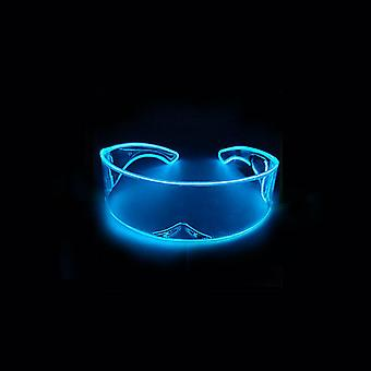 Led Transparent Glasses With Luminous Wireless El Glasses Light Up Eyeglasses For Cosplay Rave Festivals Halloween Bars Clubs Parties