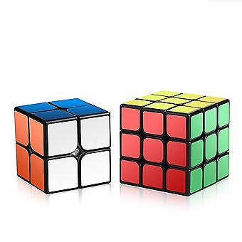 Conjunto de cubos de velocidade, conjunto cubo mágico de 2x2x2 3x3x3, cubo de quebra-cabeça 3d liso