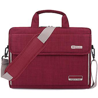 15.6 Inch Laptop Bag Oxford Fabric Portable Notebook Messenger Bag Shoulder Briefcase Handbag Travel Carrying Sleeve Case-red