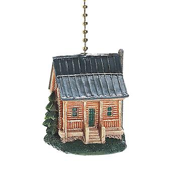 Rustic Log Cabin Decorative Ceiling Fan Light Pull 3 Dimensional