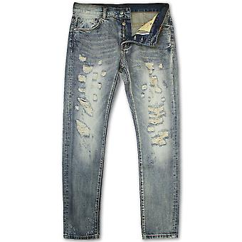 Dope Couture Franklin Tapered Denim Jeans Blue
