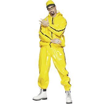 Costum rapper, costum de barbati galben
