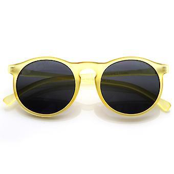 Vintage moda inspirowana P3 w kształcie koło okrągłe okulary z Key-Hole Bridge