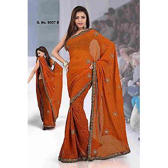 Ajastha fantasia festival indossare progettista Georgette Sari con design paillettes