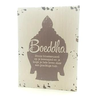 "Houten tekstbord ""Levenspad"" buddha"