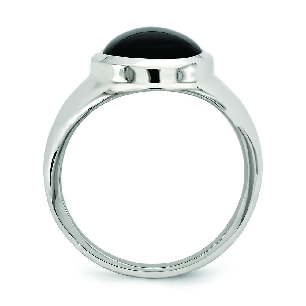 Angebot Fantastisk pris 925 Sterling Silber schwarz Achat Ring Schmuck Geschenke für Frauen - Ring Größe: 6 bis 8 JmYEw