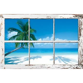 Tropical Window Poster Poster Print