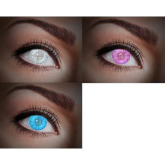 UV contactlenzen zwart licht neon 80 ies