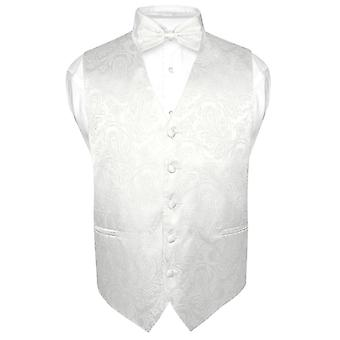 Men's Paisley Design Dress Vest & Bow Tie BOWTie Set